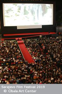 Screening of Pain and Glory, Raiffeisen Open Air Cinema, 25th Sarajevo Film Festival, 2019 (C) Obala Art Centar